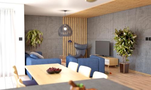 Bungalow 202 - interiér obývačka